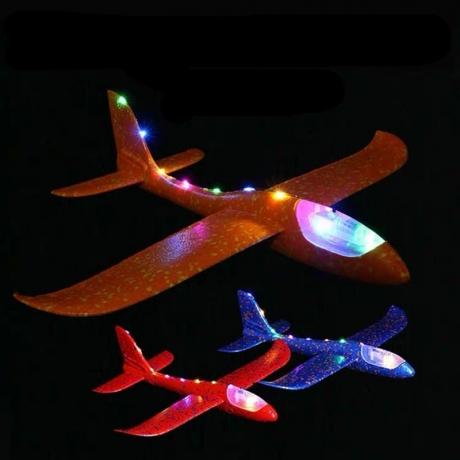 Hand Throwing Airplane 48cm LED Light Airplane Toy for children (FN-040A)