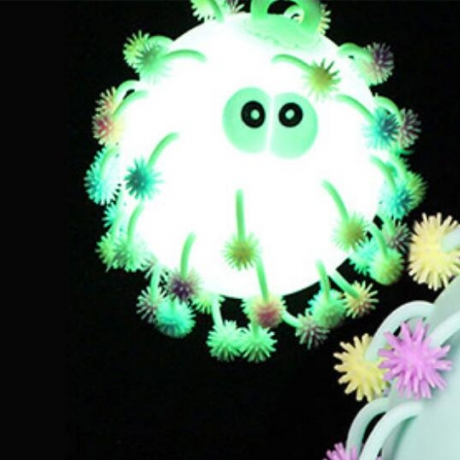 Vent with a flash snowflake style hair filled balloon puffier ball