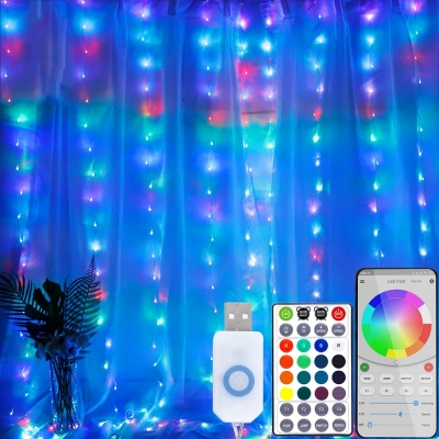 APP controlled USB power colorful curtain decorative light ( 30pcs/ctn )