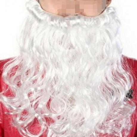 100 grams of Santa's white long beard