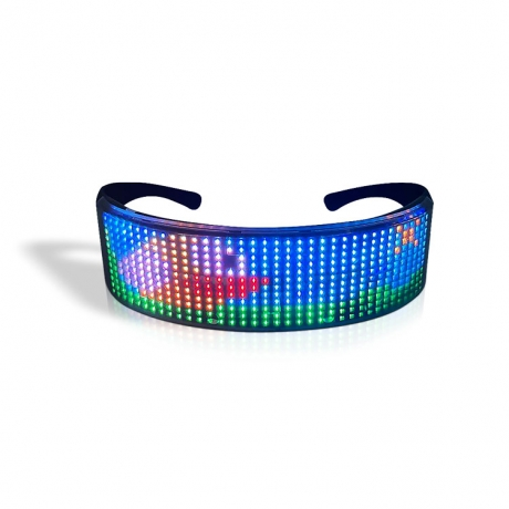DIY display colorful light pattern eyeshade glasses (No.LFG-S50)