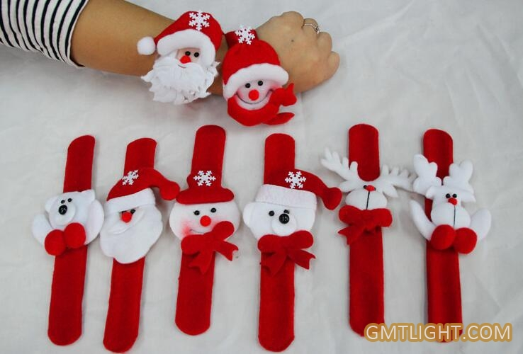 luminous plush christmas clap bracelet