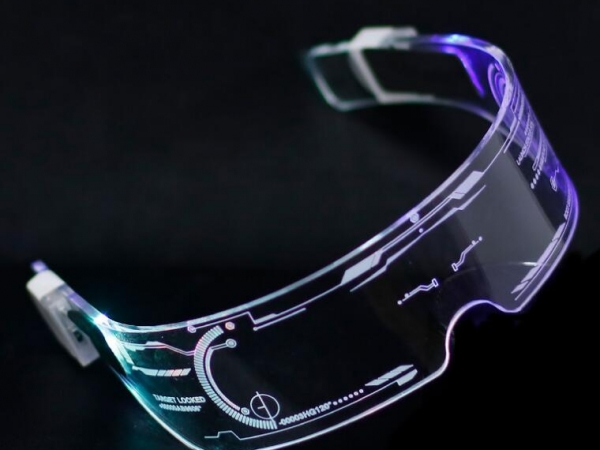 Colorful luminous clear acrylic eye protection glasses