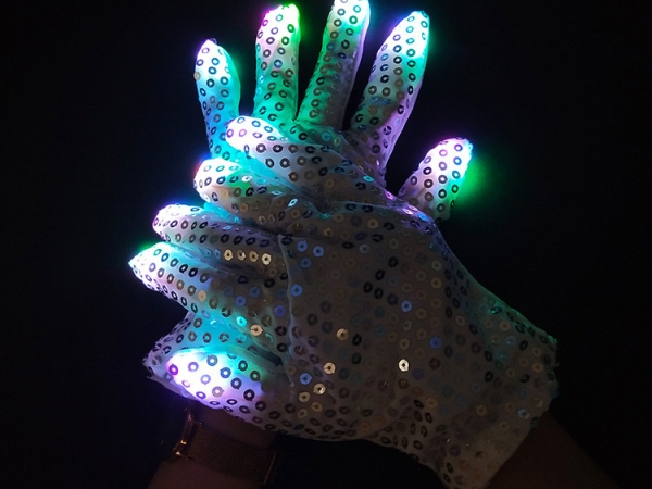 ​Halloween decoration creative design LED luminous gloves (G-02)