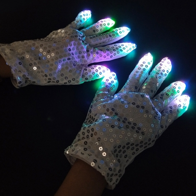 Halloween decoration creative design LED luminous gloves (200pcs/lot)