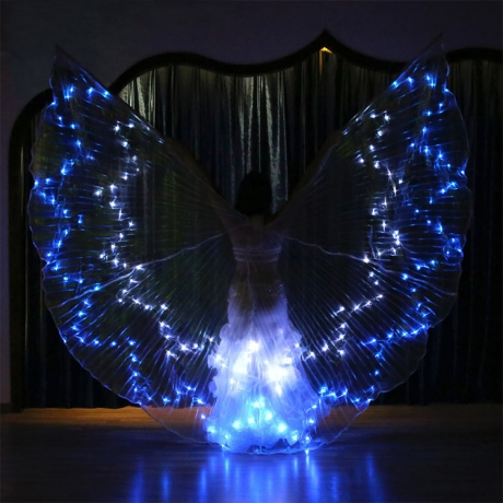 36 color changing LED dancing performance woman wings (No.YC-002C)