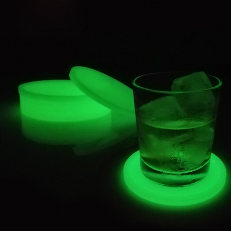 Customized logo print Silicone material Glow Coasters (GLL-0116)