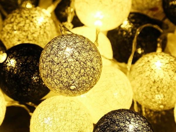 Cotton thread ball LED light string led rattan light string