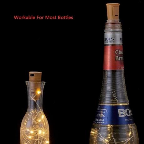 Solar LED cork lamp for decoration