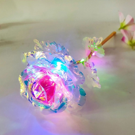Mother Day Gifts  LED Gold Rose Plated Foil Flower (ML-RS02B)