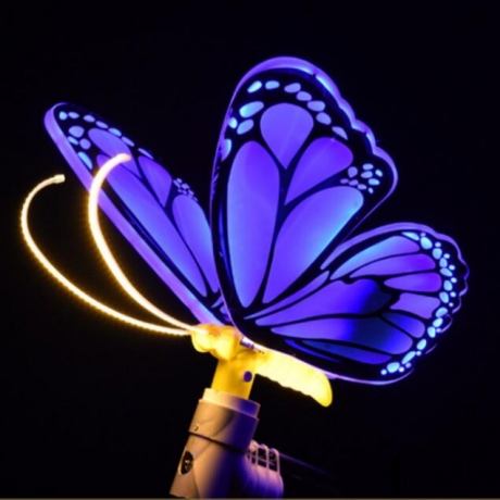 Dynamic landscape of luminous super large butterfly with lively effect