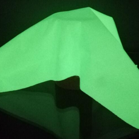 luminous glow in dark polyester cloth