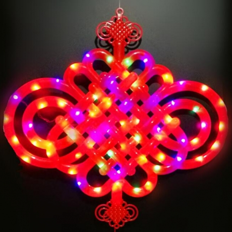 Led light chinese knot or safe knot