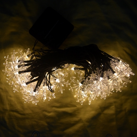 Outdoor waterproof garden decoration LED solar snowflake light string (ML-080)