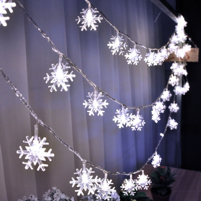 Garden decoration LED solar snowflake light string (100pcs/lot)