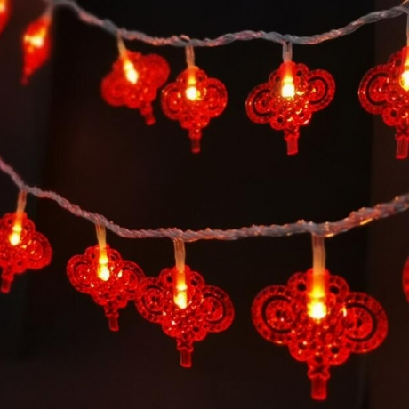 LED light string with Chinese knot style Zhongguojie