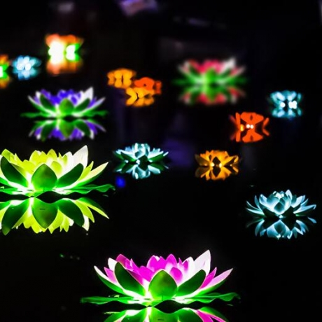 60cm super sized led lotus lamp