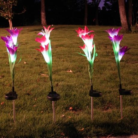 Landscap Solar Power Flower LED Solar Tulip Light Lamp (LUL-023)