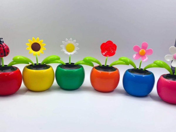 Multi-shape car promotion gift solar energy flower (SF-02A)