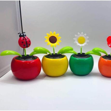 Multi-shape car promotion gift solar energy flower (SF-02A)