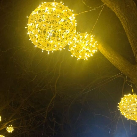 Led rattan lamp