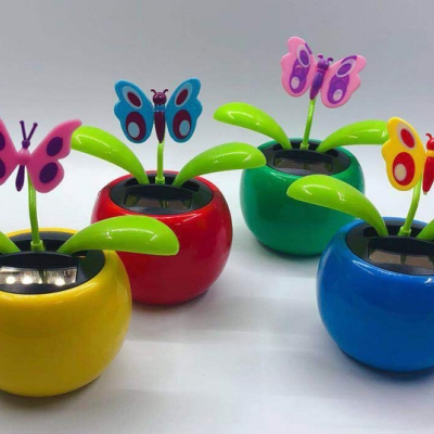 Multi-shape car promotion gift solar energy flower (240pcs/lot)