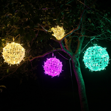 Outdoor Tree Decoration Light Colorfull LED Rattan Ball Lights (ML-068)