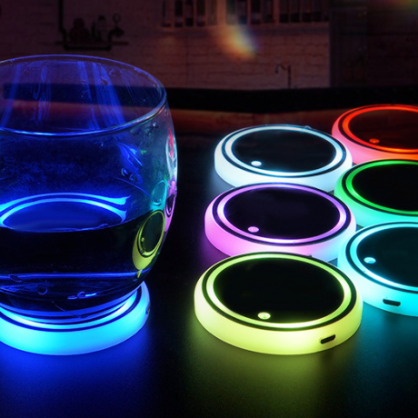 Rechargeable luminous coaster light for automobile