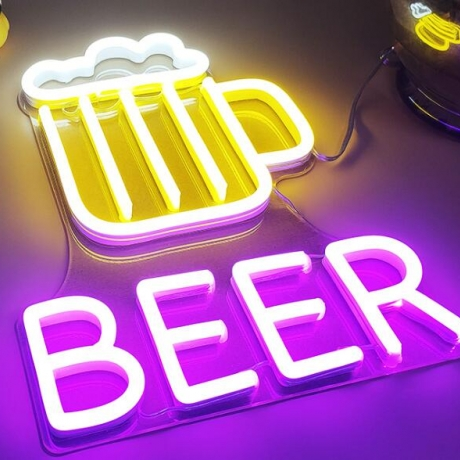 Customization of LED light neon characters and neon signs