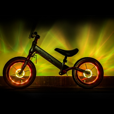 USB sensitive switch bike hub circle lamp with colorful light (100pcs/ctn)