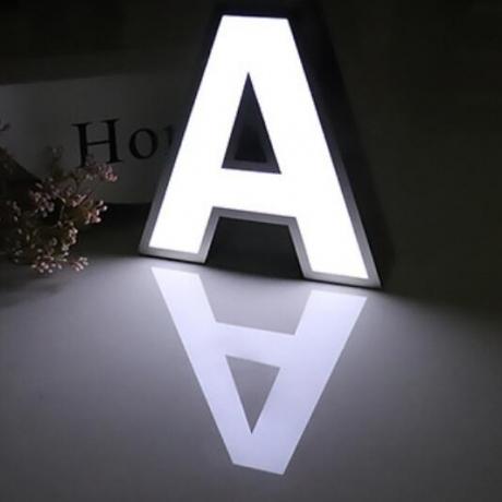 Stainless steel surround edge advertising luminous words