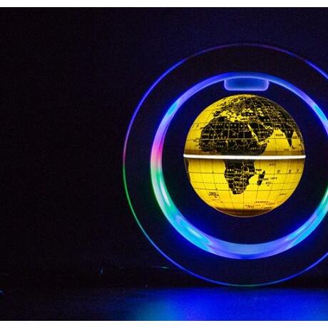 6 inch blue light magnetic levitation luminous globe