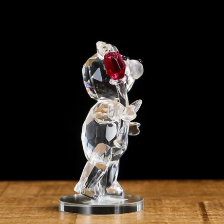 2021 Valentine's Day gift crystal bear with rose