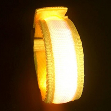 rechargeable led light arm belt for night riding
