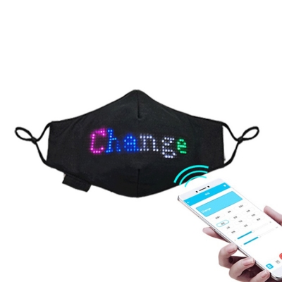 Editable promotional LED message display party face light mask (30pcs/ctn)