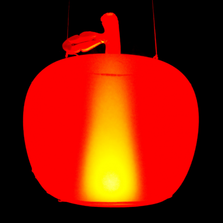 Super large sized inflatable luminous apple
