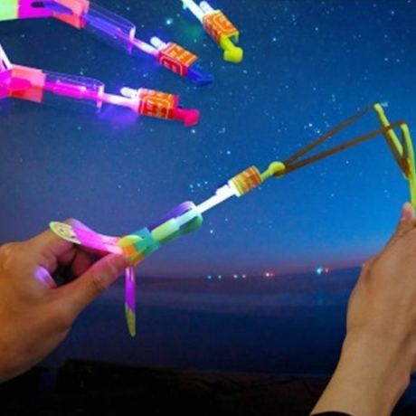 A luminous light rocket that everyone can experience