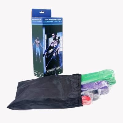 4 different lbs in 1 pack elastic fitness resistance loop bands (10 sets/ctn)