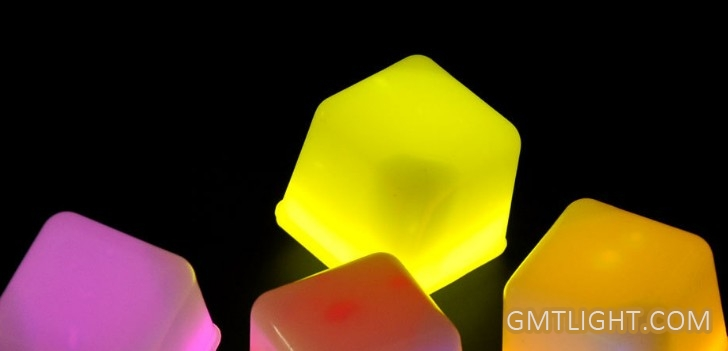 glow ice cube or luminous ice cubic