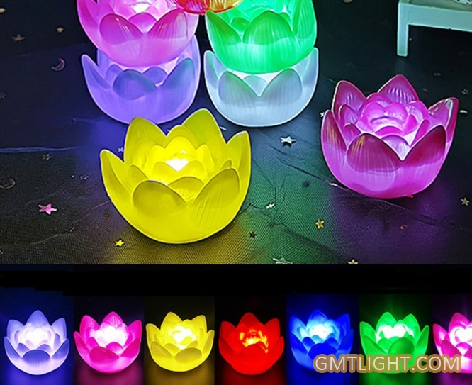 lotus shaped mini lamp