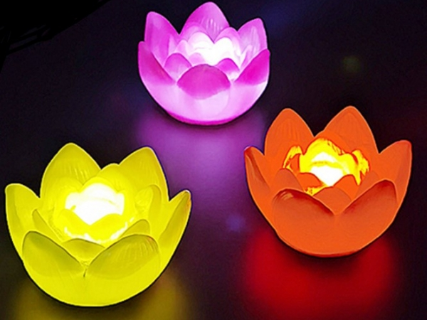 Led lotus shaped lamp