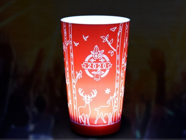 Drinks active led drink cup with full logos printed