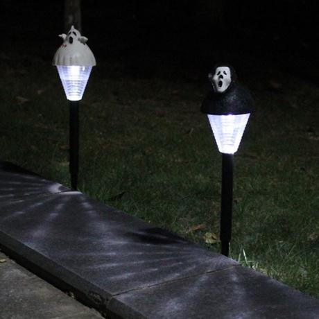 Lawn Halloween solar jack-o-lantern skeleton lantern