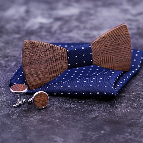 wooden bow tie for adult