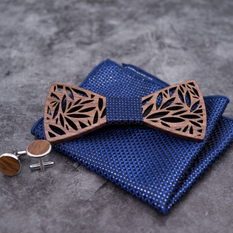 High quality wooden bow tie