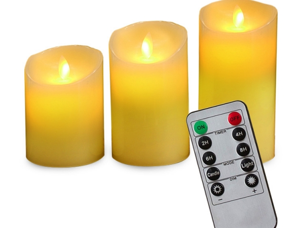 Rechargeable candle light with remote controller (No.CD-RS075C)