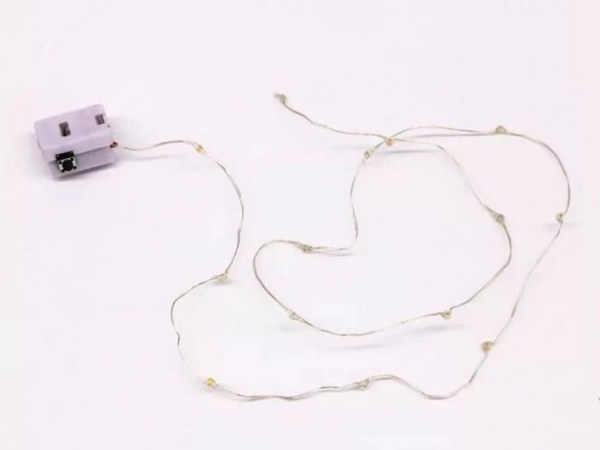 led light string with battery and switch for processing accessories
