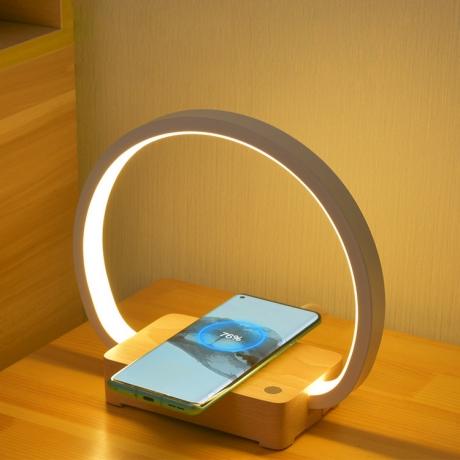Circle shape warm light night lamp with wireless charger (No.ML-MC02)
