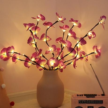 LED light emitting Phalaenopsis artificial flower