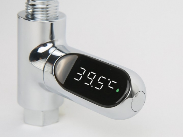 Shower pipe digital display water temperature gauge